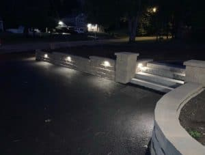 nightime-retaining-wall-with-LED-lights