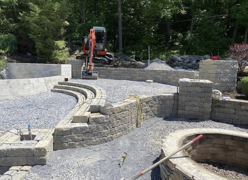 Clifton-Park-hardscaping-project-Versa-Lok-pavers-Belgard-Tile-stamped-concrete-4
