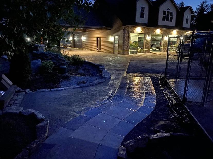 Clifton-Park-hardscaping-project-Versa-Lok-pavers-Belgard-Tile-stamped-concrete-7