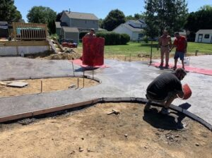 Latham-concrete-hardscaping-project-Heavy-stone-stamped-concrete-1